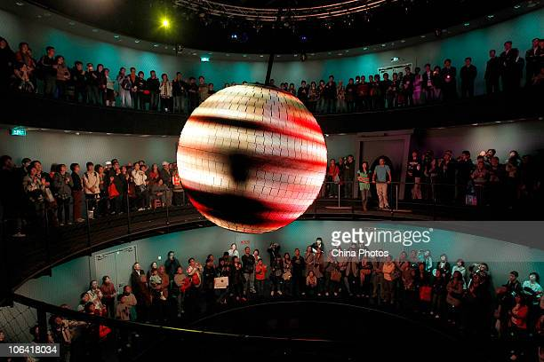 Tourists visit the Germany Pavilion during the Shanghai World Expo on October 31 2010 in Shanghai China The sixmonth fair closed today setting a new...