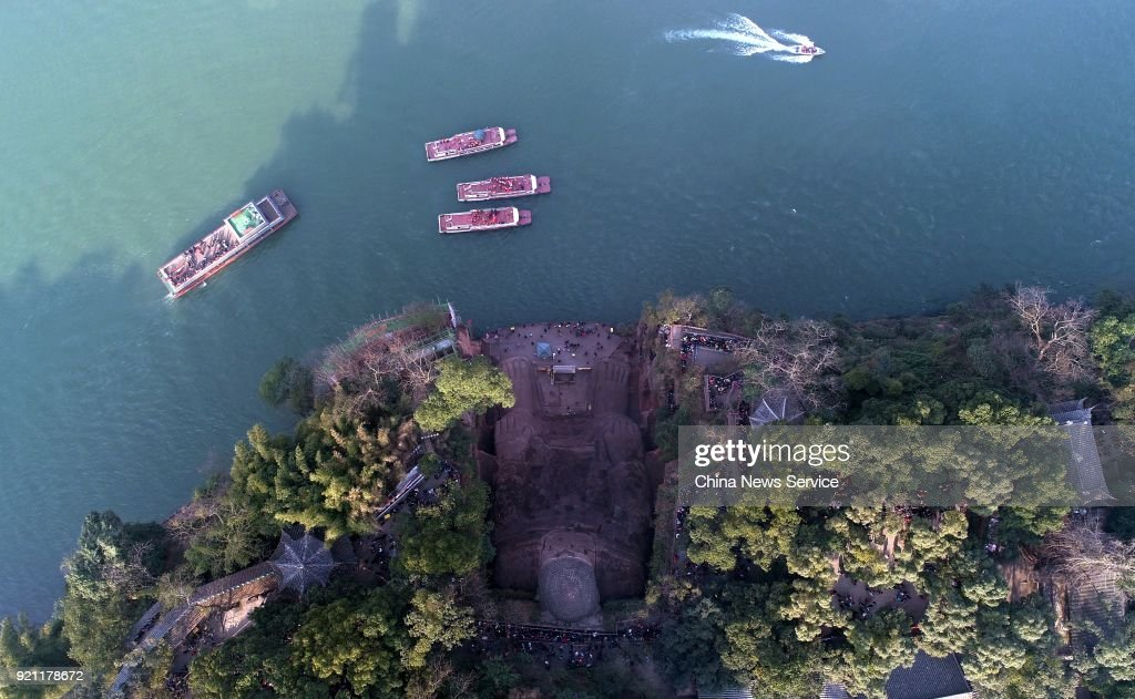 Thousands Of Tourists Visit Leshan Giant Buddha In Sichuan