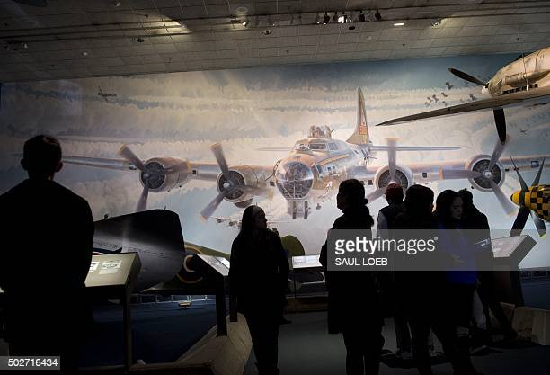 Tourists visit the Smithsonian National Air and Space Museum in Washington DC December 28 2015 More than 8 million people visit the museum each year...