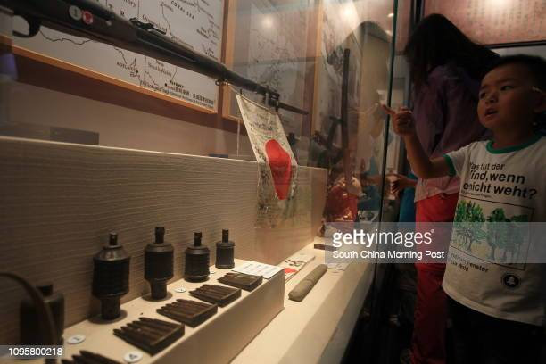 Tourists visit the Western Yunnan AntiJapanese War Memorial Hall in Tengchong city southwest China's Yunnan province on Aug 13 2015 2015 marks the...