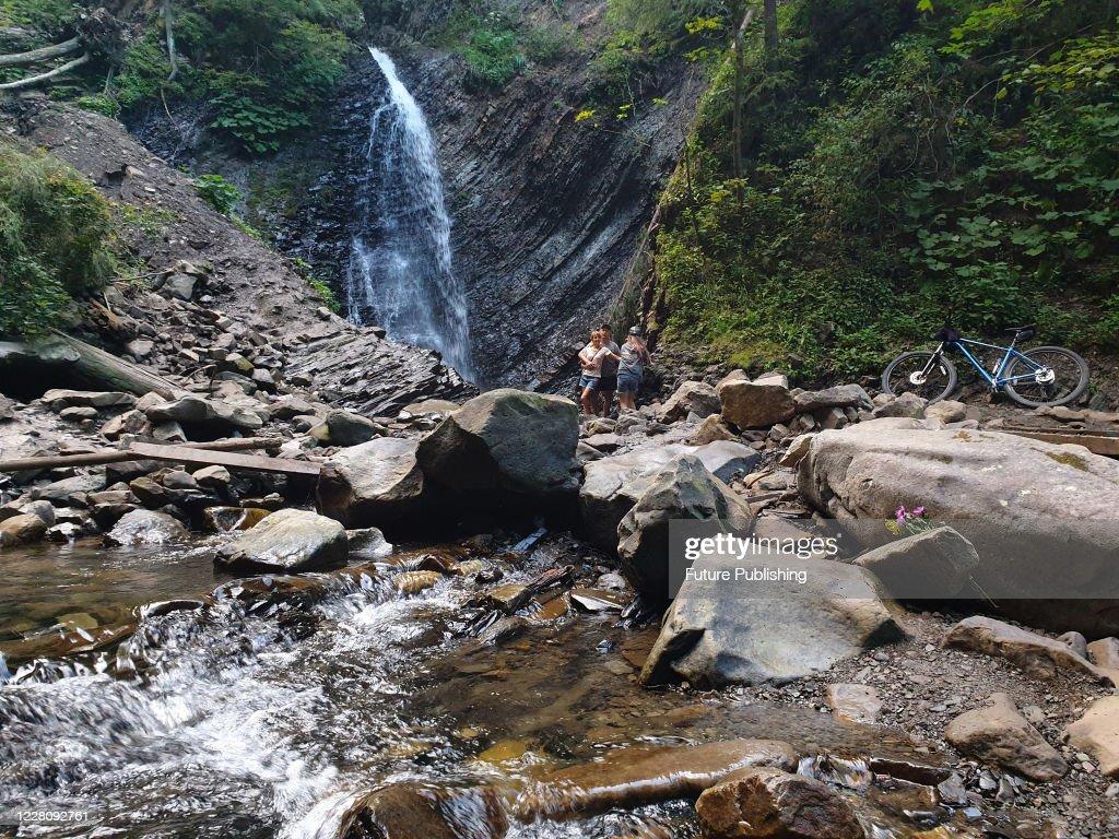 Zhenetskyi Waterfall : News Photo