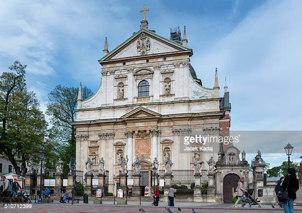 Tourists visiting Church of St Peter and Paul in Krakow Poland Krakow is enlisted in the UNESCOs World Heritage List