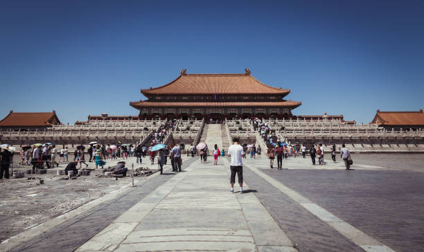 Tourists Visiting The Forbidden City In Beijing
