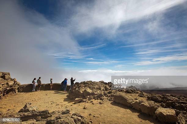 Tourists Visiting the Haleakala National Park, Maui, USA