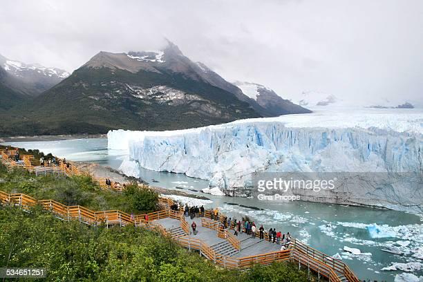 Tourists visiting the Perito Moreno glacier