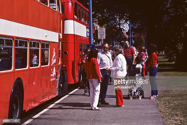 Tourists Waiting for the Double Decker Bus
