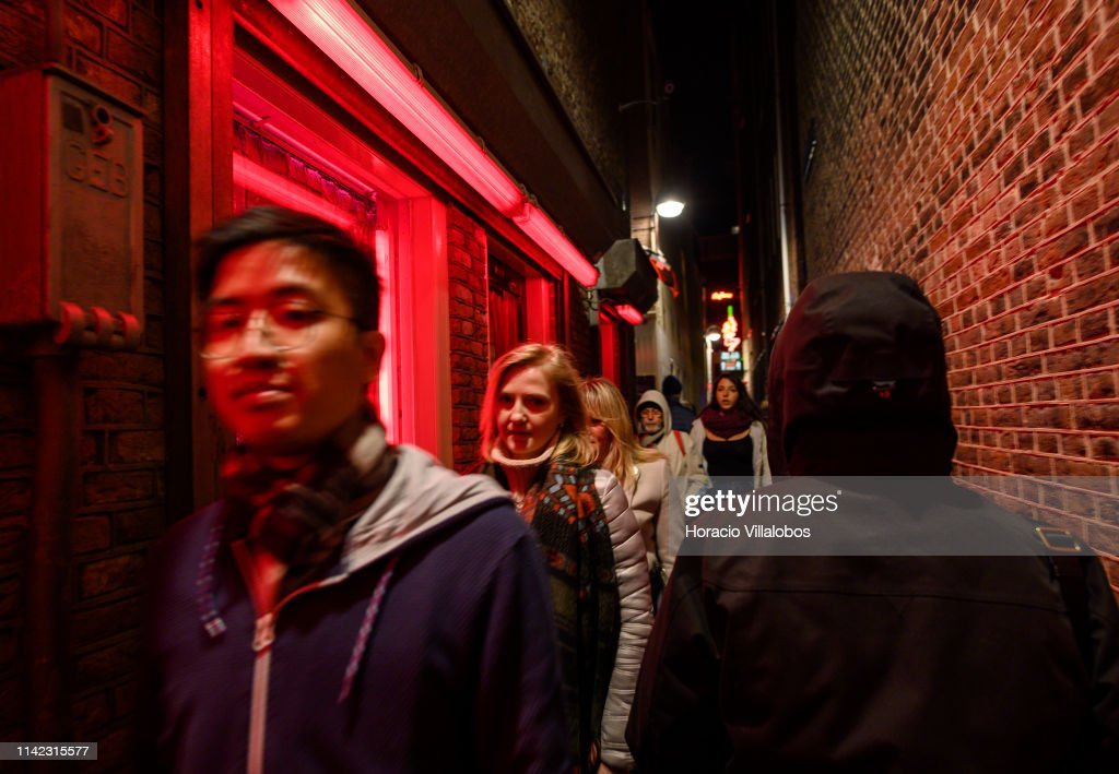 Prostitution in Amsterdam : News Photo