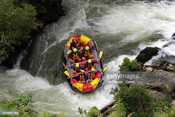 Tourists Whitewater rafting with Kaituna Cascades on the Kaituna River Rotorua The trip includes one of the world's highest commercially rafted...