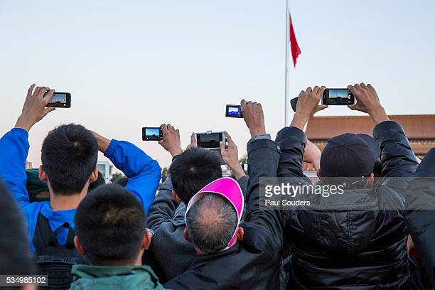 Tourists with Cellphone Cameras, Beijing, China