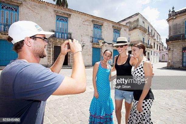 tourists with flamenco dancers - hugh sitton stock-fotos und bilder