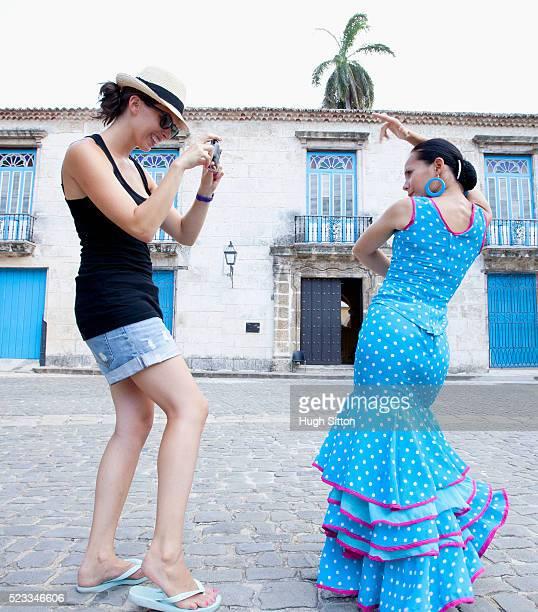 Tourists with Flamenco Dancers