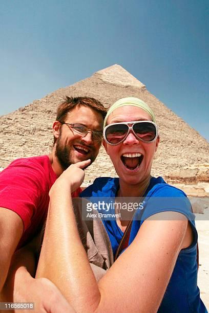 Tourists with Pyramids