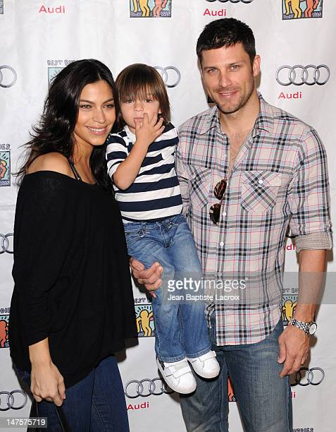 Touriya Haoud and Greg Vaughn attend the Best Buddies International's 'Bowling For Buddies' Benefit presented by Audi at Lucky Strikes on February 21...