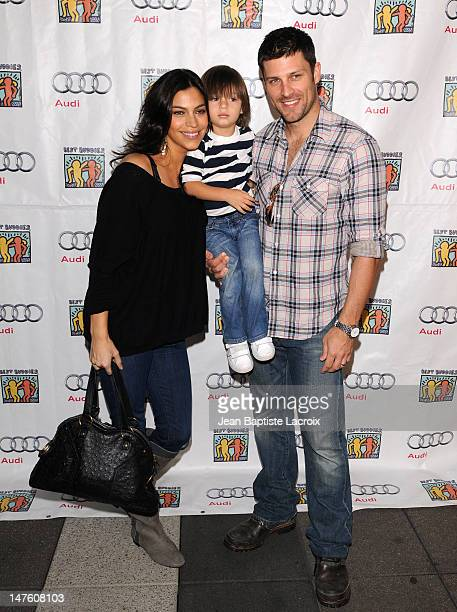 Touriya Haoud and Greg Vaughn attends the Best Buddies International's 'Bowling For Buddies' Benefit presented by Audi at Lucky Strikes on February...