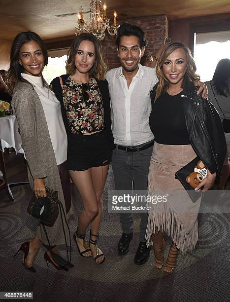Touriya Haoud, Louise Roe, Joey Maalouf and Diana Madison attend The Glam App's Glamchella at the Petit Ermitage on April 7, 2015 in Los Angeles,...