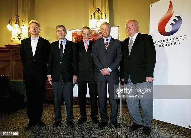 Tournament Chairman Boris Becker DTB President Georg von Waldenfels Chairman of the Board of EON Hanse HansJakob Tiessen Mayor of Hamburg Ole von...