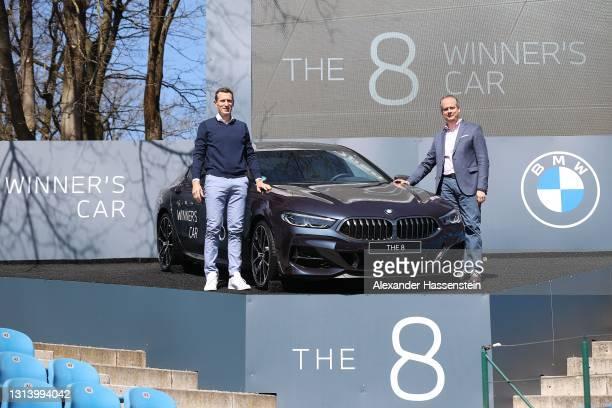 Tournament director Patrick Kühnen presents with Sebastian Mackensen, President BMW Germany the BMW M850i xDrive Gran Coupe winners car for the BMW...