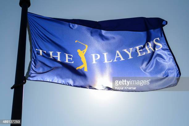 A tournament flag flies during practice for THE PLAYERS Championship on THE PLAYERS Stadium Course at TPC Sawgrass on May 6 2014 in Ponte Vedra Beach...