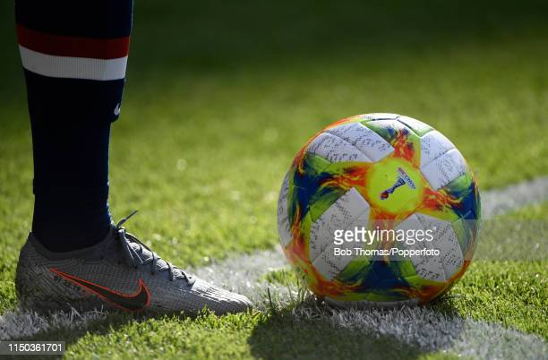 Tournament football on the corner spot during the 2019 FIFA Women's World Cup France group F match between USA and Chile at Parc des Princes on June...