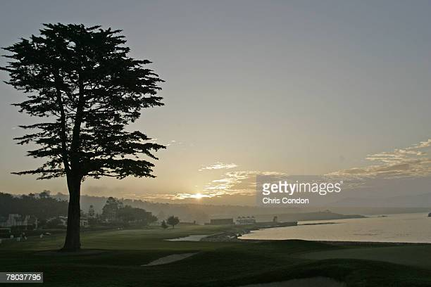 A tournament scenic of the sunrise at before the third round at the ATT Pebble Beach National ProAm February 11 held at Pebble Beach Golf Links...