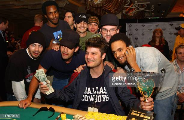 Tournament winner Jay Fergusn with Nicholas Gonzalez and guests