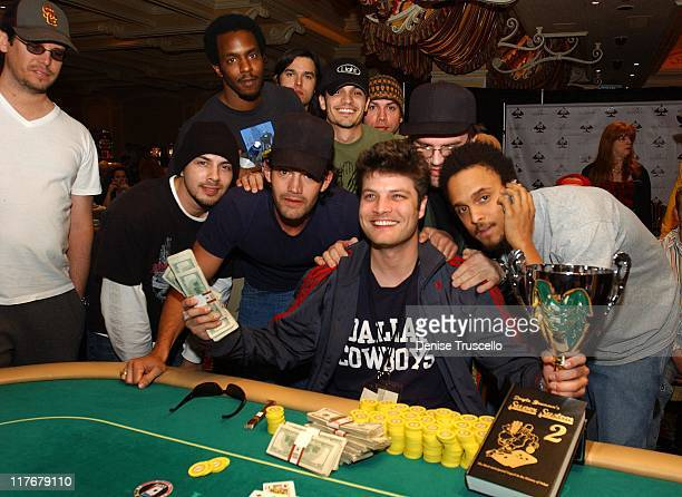 Tournament winner Jay Ferguson with Nicholas Gonzalez and guests