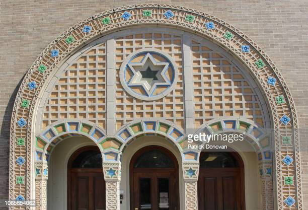 touro synagogue, new orleans, louisiana - synagogue stock pictures, royalty-free photos & images