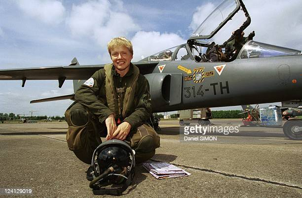 Tours Air Base Lieutenant Caroline Aigle 1st Woman Fighter Pilot In Tours France On May 25 1999