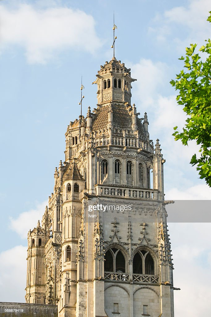 Tours (Saint Gatien's) Cathedral, Loire Valley : Stock Photo