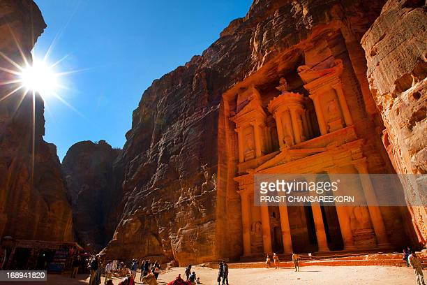 CONTENT] Toursts and Al Khazneh or The Treasury at Petra