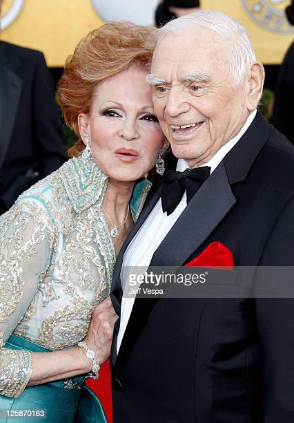 Tova Borgnine and actor Ernest Borgnine arrive at the 17th Annual Screen Actors Guild Awards held at The Shrine Auditorium on January 30 2011 in Los...