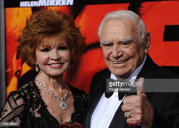 Tova Borgnine and actor Ernest Borgnine arrives at a special screening of Summit Entertainment's 'RED' at Grauman's Chinese Theatre on October 11...