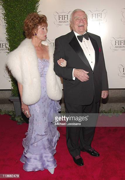 Tova Borgnine and Ernest Borgnine during 34th Annual FIFI Awards Presented by The Fragrance Foundation Arrivals at Hammerstein Ballroom in New York...