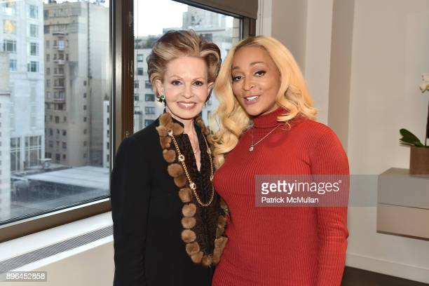 Tova Borgnine and Karen Huger attend The discovery continues with Karen Huger The Grande Dame of Potomac as she meets her inspiration, QVC's Tova...