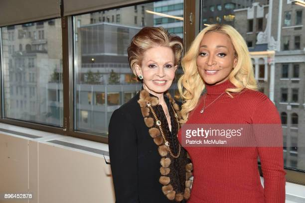 Tova Borgnine and Karen Huger attend The discovery continues with Karen Huger The Grande Dame of Potomac as she meets her inspiration QVC's Tova...
