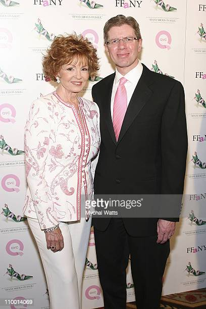 Tova Borgnine and QVC President and CEO Michael George at Veronica Webb Hosts the 14th Annual QVC Presents FFANY Shoes on Sale Benefitting Breast...