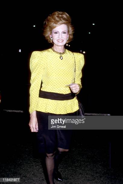 Tova Borgnine during Private Party Hosted by Warren Beatty November 11 1987 at Bistro's Garden in Beverly Hills California United States