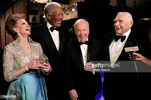 Tova Borgnine, Morgan Freeman,Tim Conway and Ernest Borgnine attend the TNT/TBS broadcast of the 17th Annual Screen Actors Guild Awards held at The...