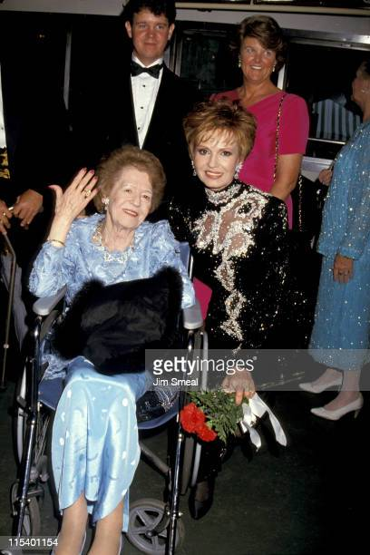 Tova Borgnine with her mother and guests during 1993 Ellis Island Medal of Honor at Ellis Island in New York City New York United States