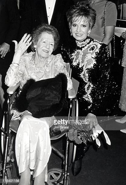 Tova Borgnine with her mother during 1993 Ellis Island Medal of Honor at Ellis Island in New York City New York United States