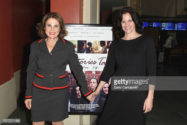 """Tovah Feldshuh and Ally Sheedy attend the New York screening of """"Ten Stories Tall"""" at AMC Empire 25 theater on November 30, 2010 in New York City."""