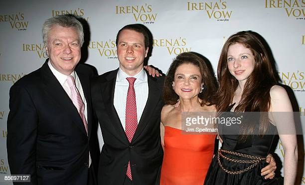 Tovah Feldshuh Andrew Levy Brandon Levy and Amanda Levy attends the Irena's Vow Broadway opening night party at TAO on March 29 2009 in New York City