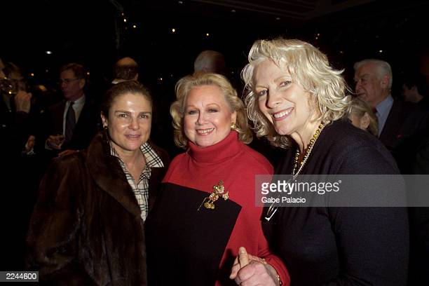 Tovah Feldshuh Barbara Cook and Betty Buckley at the opening night party following her performance in Mostly Sondheim at Lincoln Center in New York...