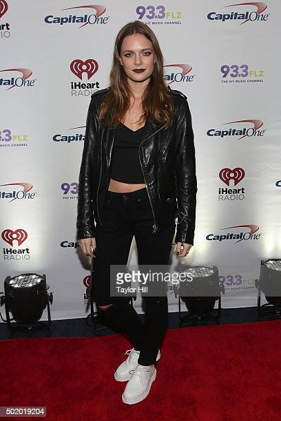 Tove Lo attends 933 FLZ's 2015 Jingle Ball at Amalie Arena on December 19 2015 in Tampa Florida