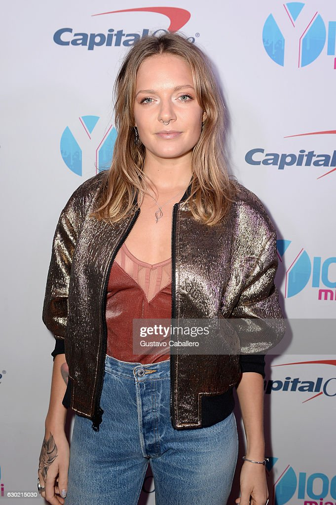 Tove Lo attends the Y100's Jingle Ball 2016 - PRESS ROOM at BB&T Center on December 18, 2016 in Sunrise, Florida.