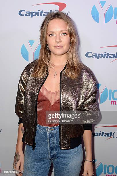 Tove Lo attends the Y100's Jingle Ball 2016 PRESS ROOM at BBT Center on December 18 2016 in Sunrise Florida