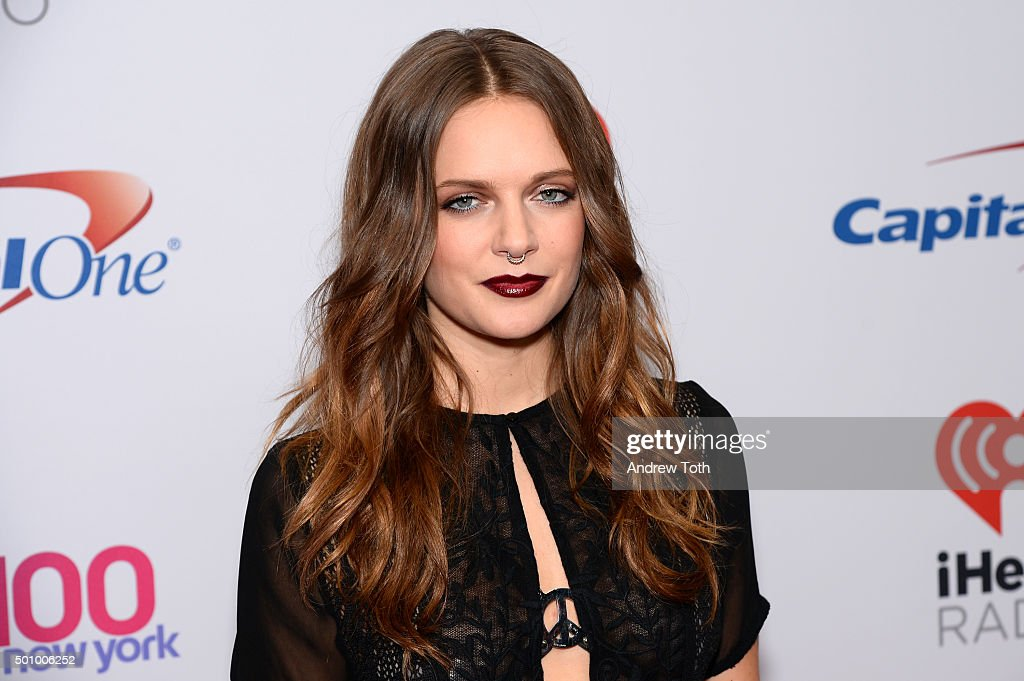 Tove Lo attends Z100's iHeartRadio Jingle Ball 2015 arrivals at Madison Square Garden on December 11, 2015 in New York City.