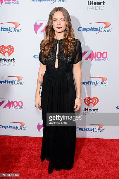 Tove Lo attends Z100's iHeartRadio Jingle Ball 2015 arrivals at Madison Square Garden on December 11 2015 in New York City