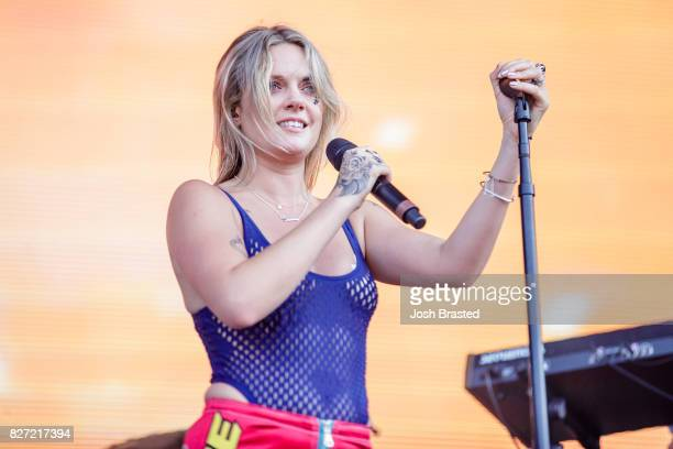 Tove Lo performs at Lollapalooza 2017 at Grant Park on August 6 2017 in Chicago Illinois