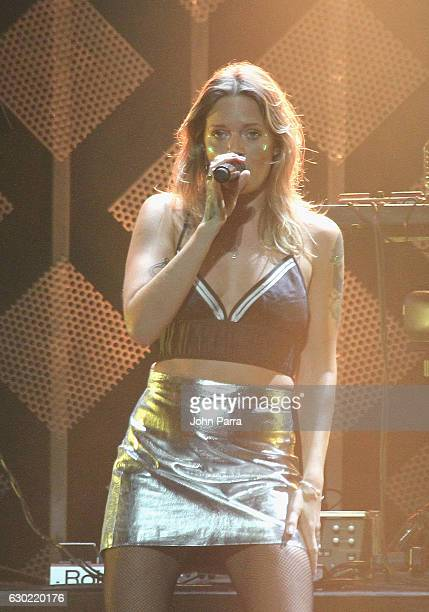 Tove Lo performs at the Y100's Jingle Ball 2016 at BBT Center on December 18 2016 in Sunrise Florida